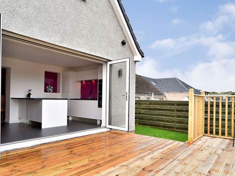 House Extension, Countesswells Terrace, Aberdeen, Architect, Open plan kitchen, new garage, replacement conservatory, McGregor Garrow Architects
